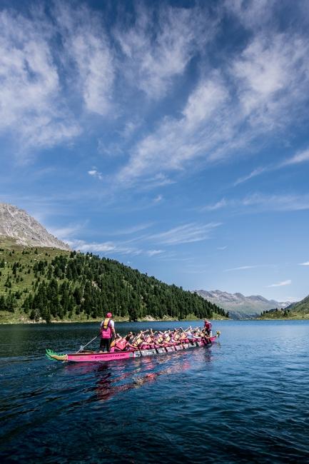 traumhafte Kulisse beim weltweit höchsten Drachenboot-Rennen im Defereggental